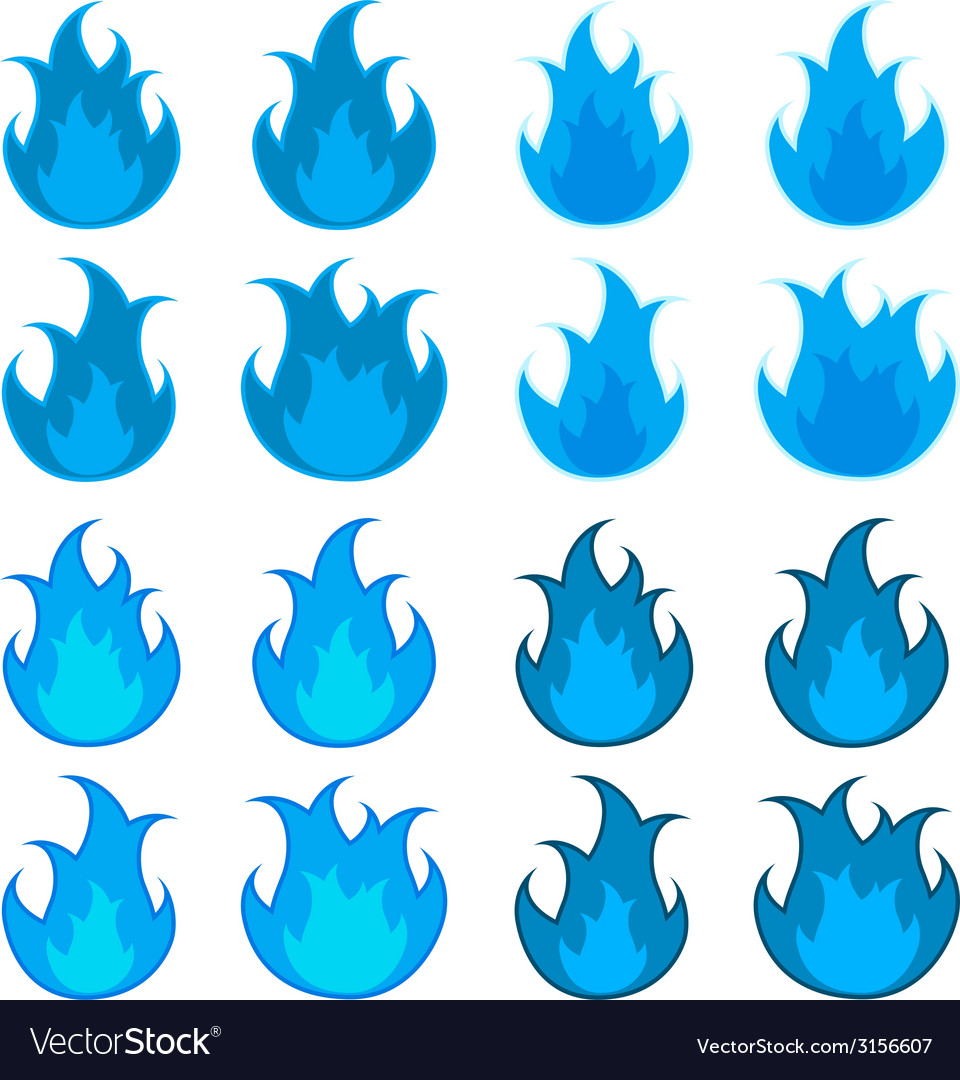 Blue fire flames vector | Price: 1 Credit (USD $1)