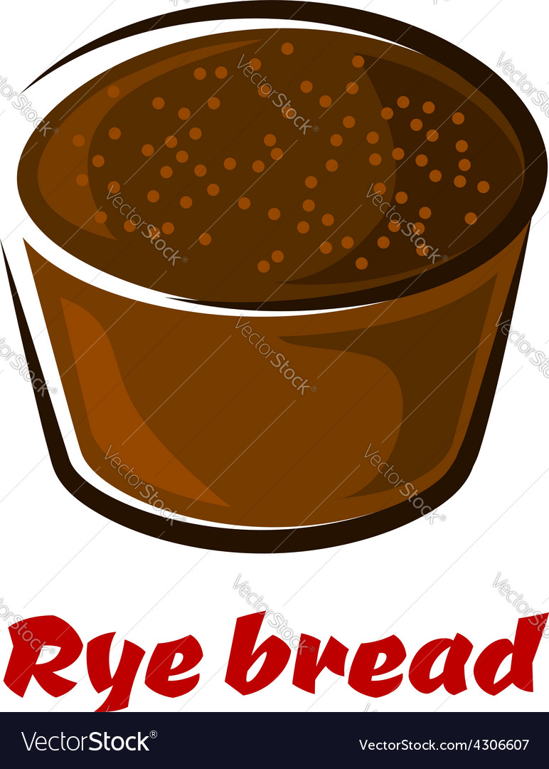 Cartoon loaf of spicy rye bread vector | Price: 1 Credit (USD $1)