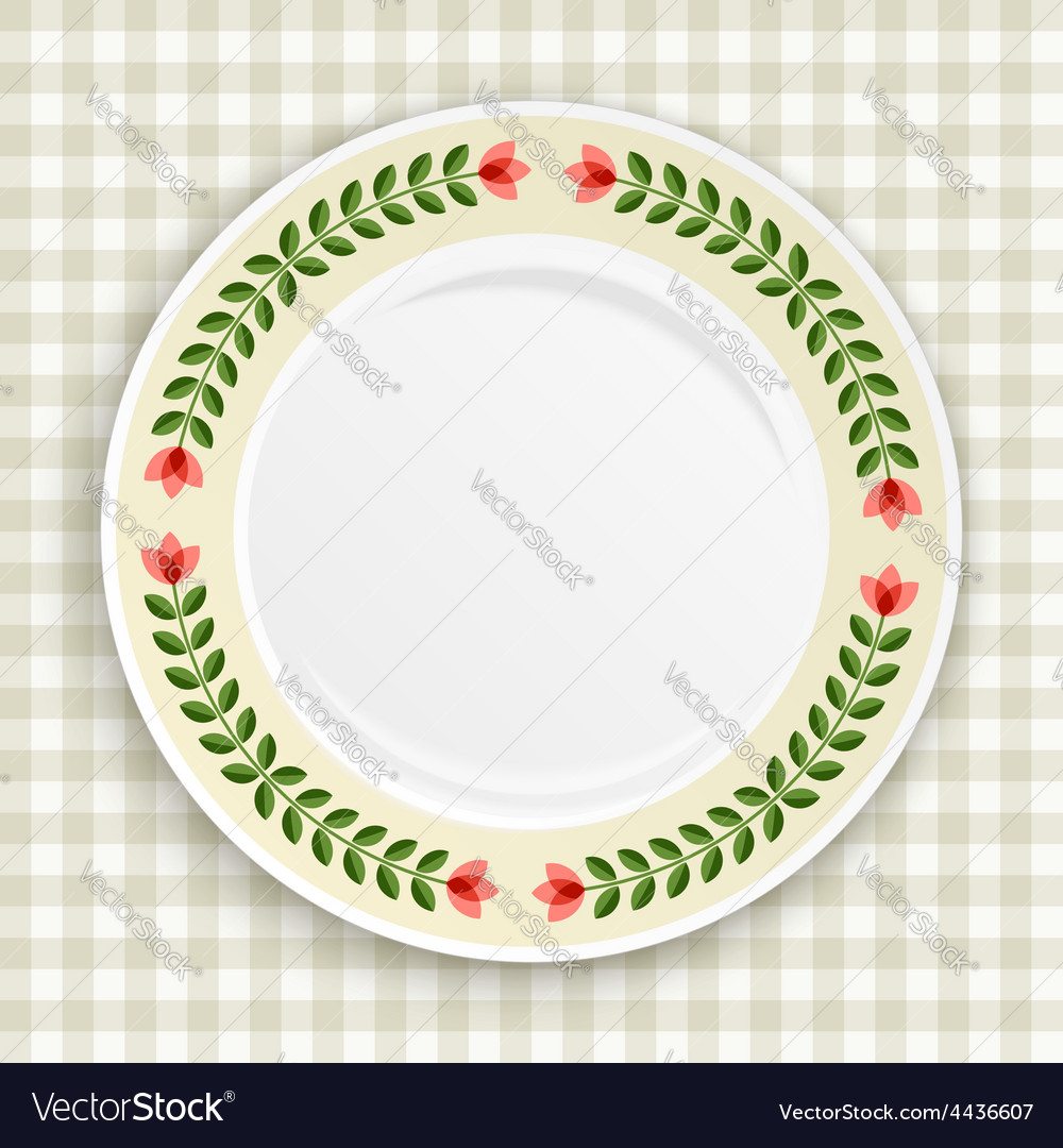 Decorative plate top view vector | Price: 1 Credit (USD $1)