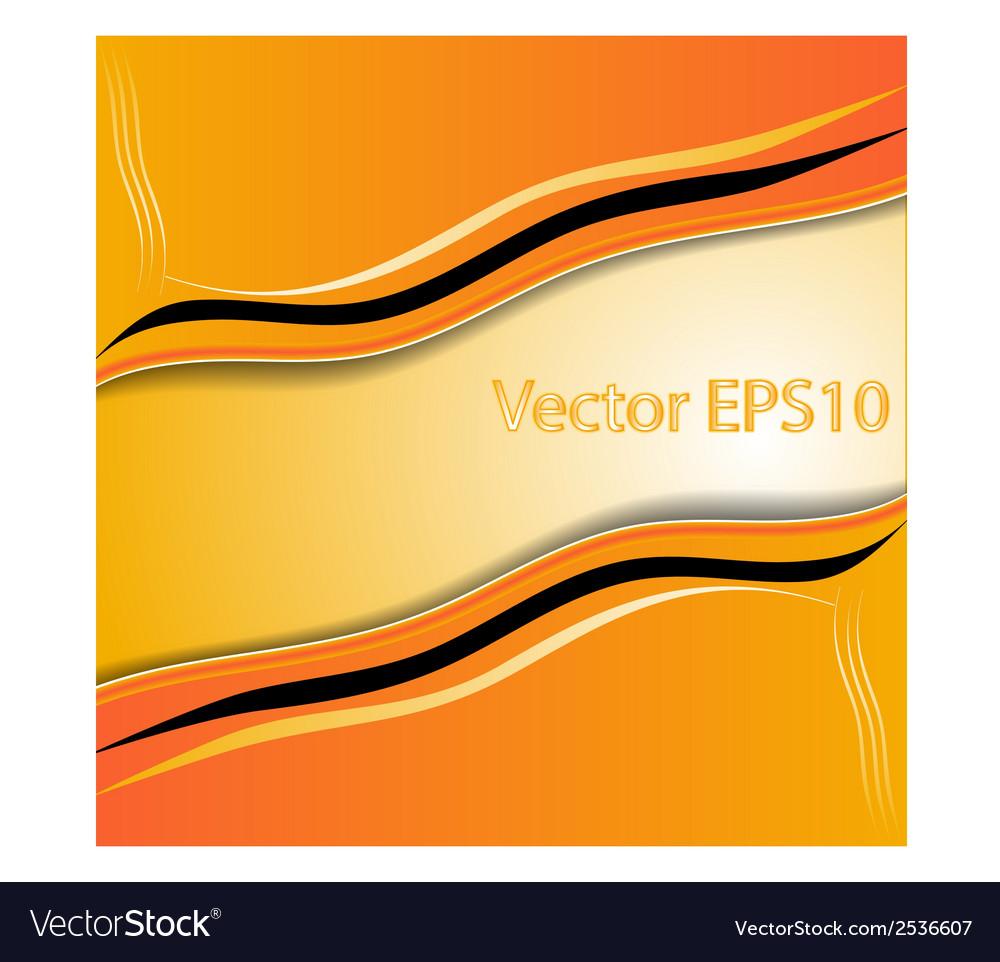 Elegant abstract orange background vector | Price: 1 Credit (USD $1)