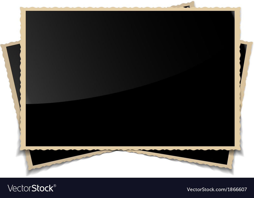 Empty vintage photo frames background vector | Price: 1 Credit (USD $1)