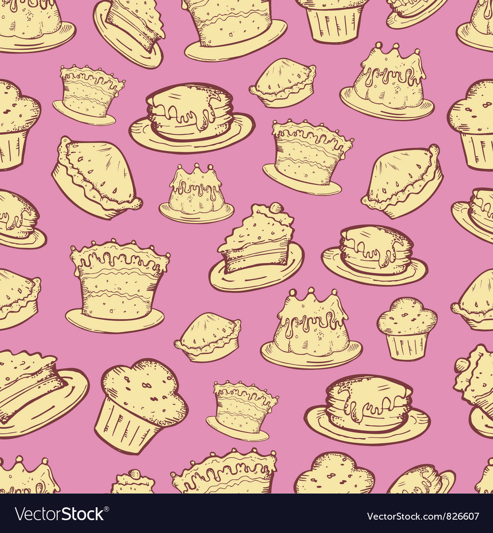 Food seamless pattern vector | Price: 1 Credit (USD $1)