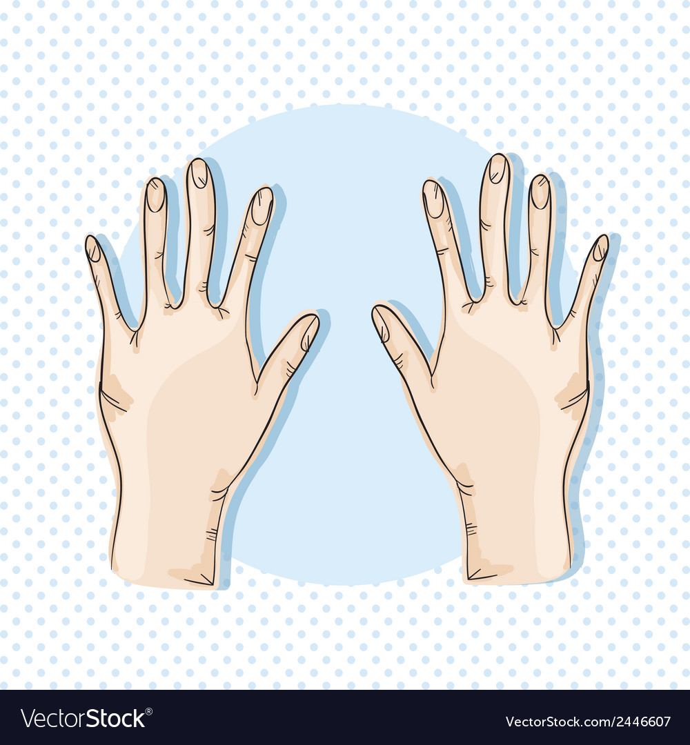 Hands icons vector | Price: 1 Credit (USD $1)