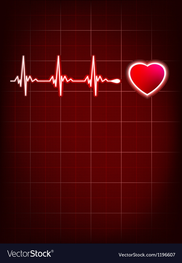 Heart beating monitor eps 8 vector | Price: 1 Credit (USD $1)
