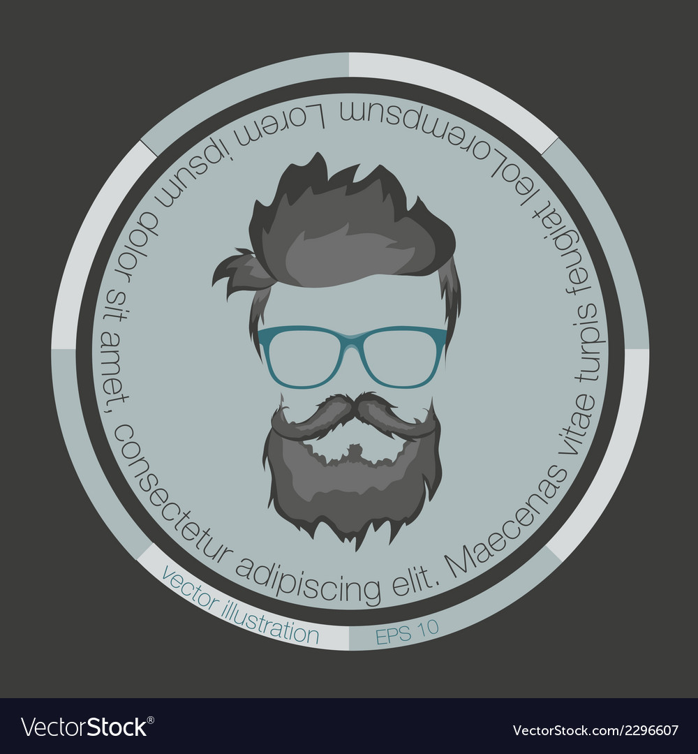 Icons hairstyles beard vector | Price: 1 Credit (USD $1)