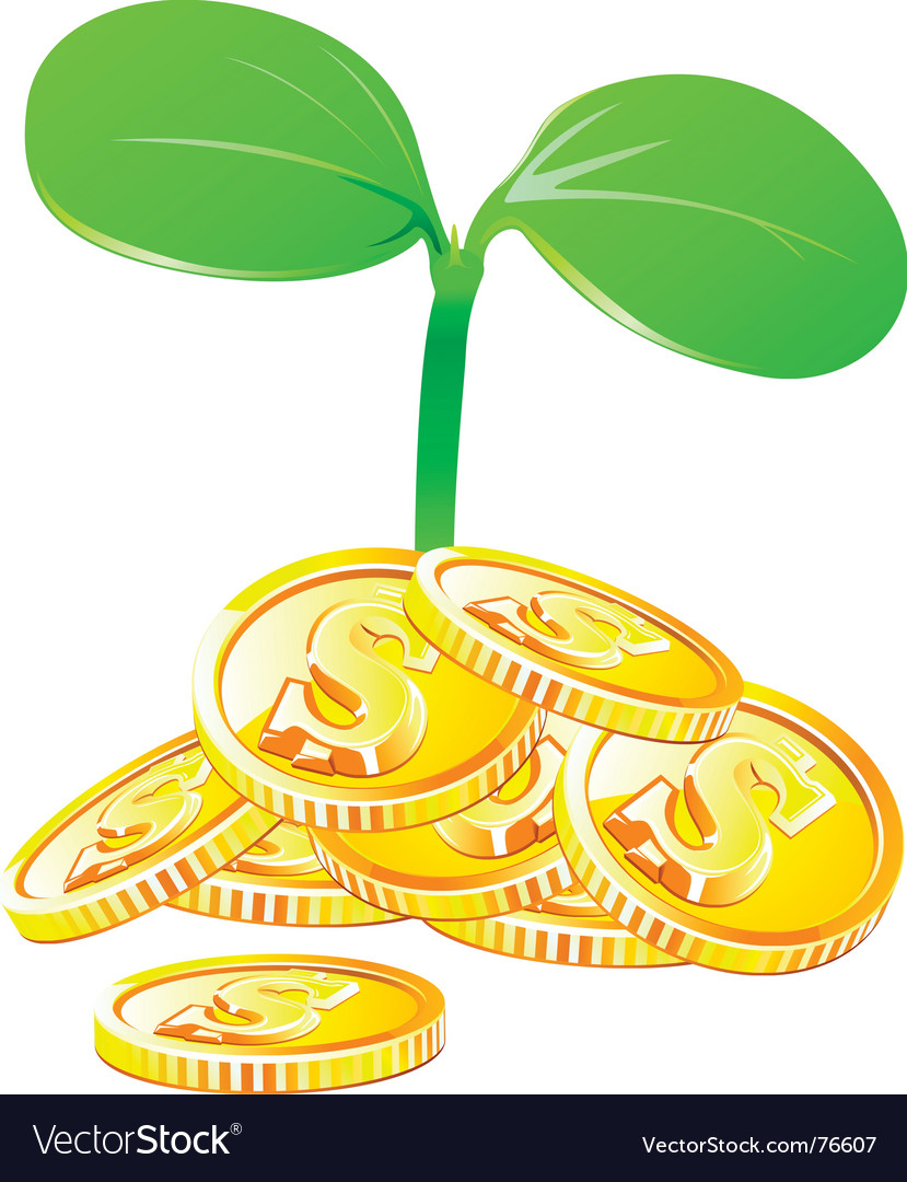 Money growth vector | Price: 1 Credit (USD $1)