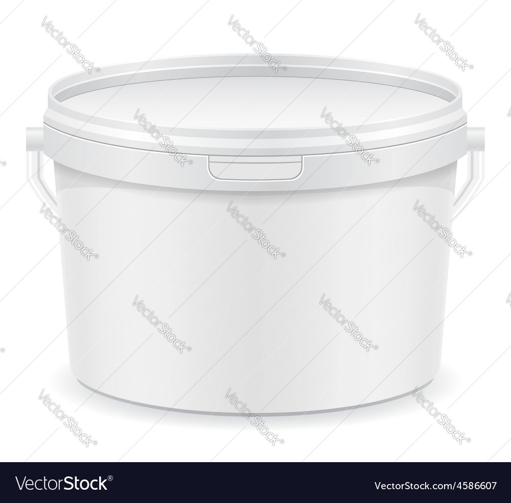 Plastic bucket for paint 03 vector | Price: 1 Credit (USD $1)