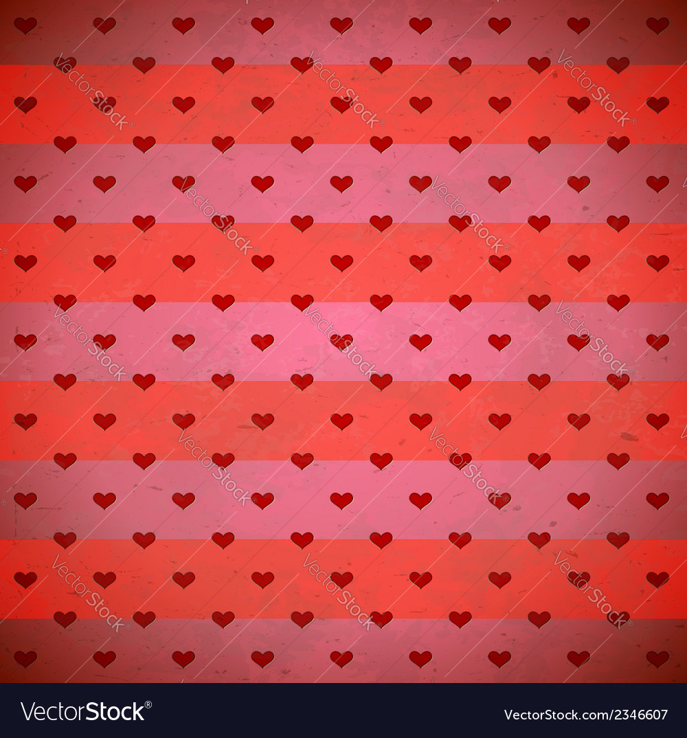 Red hearts striped pattern vector   Price: 1 Credit (USD $1)