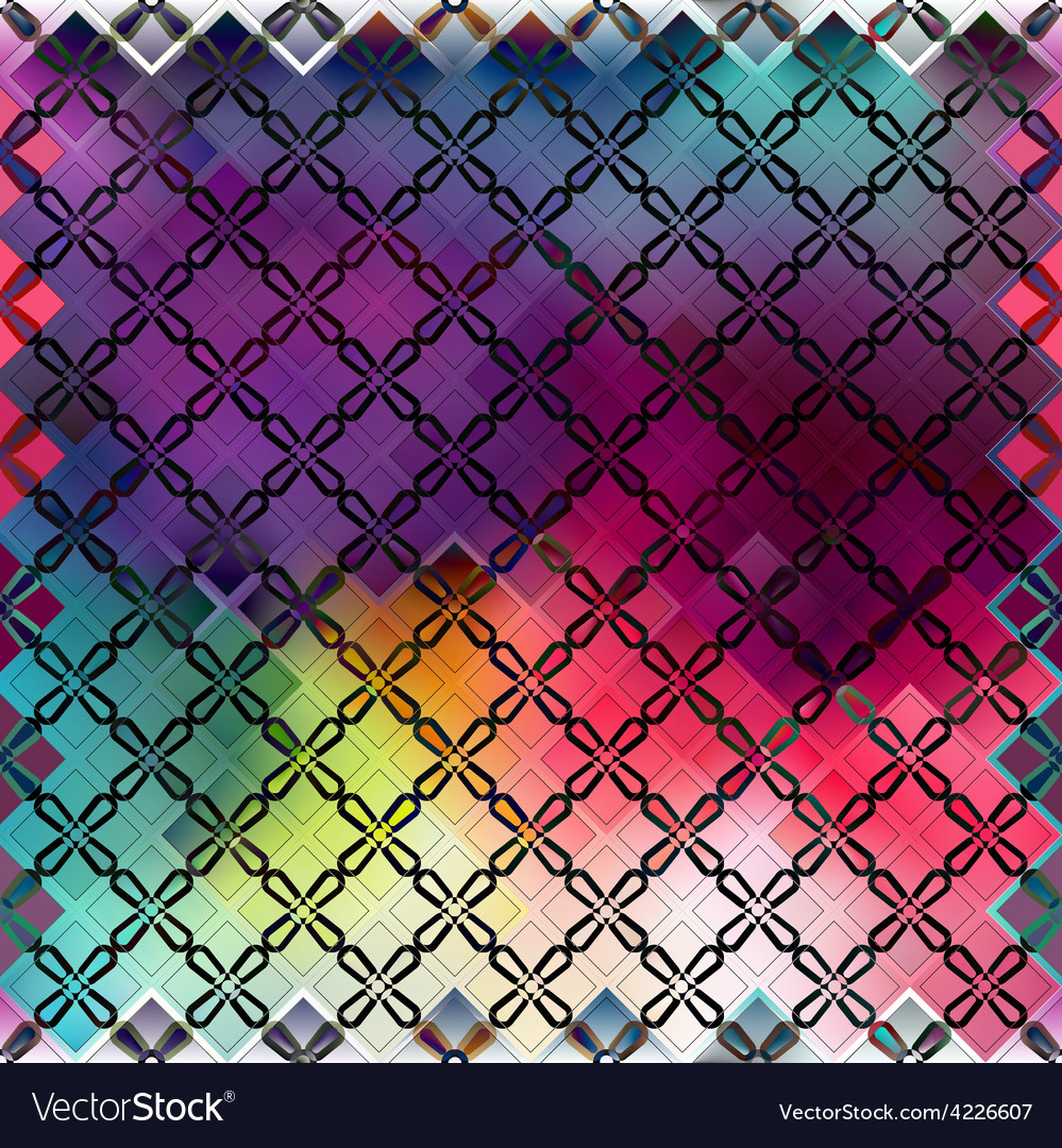 Seamless color pattern of squares vector | Price: 1 Credit (USD $1)