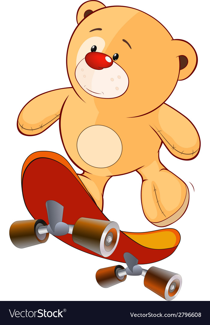 A stuffed toy bear cub cartoon vector | Price: 1 Credit (USD $1)