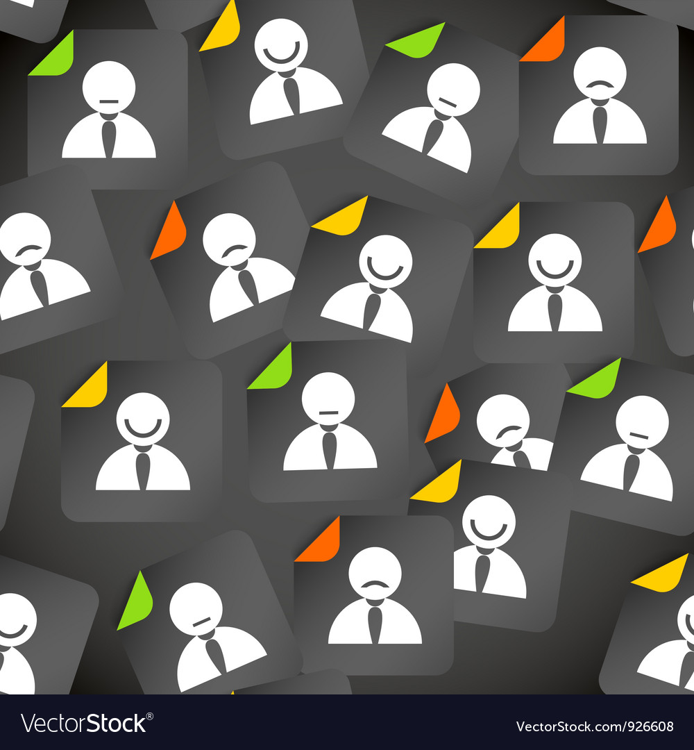 Abstract crowd of social media account avatars vector | Price: 1 Credit (USD $1)