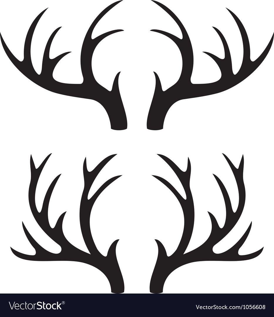 Deer horns vector | Price: 1 Credit (USD $1)