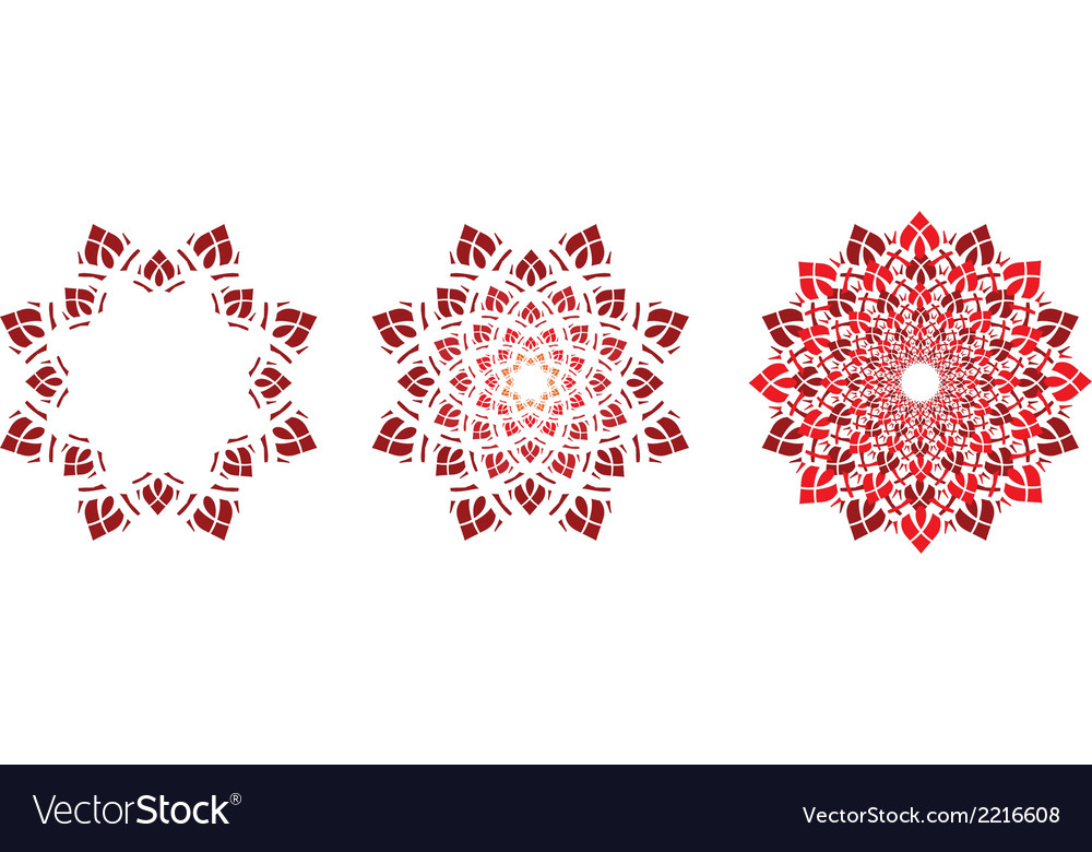 Flower symbols vector | Price: 1 Credit (USD $1)