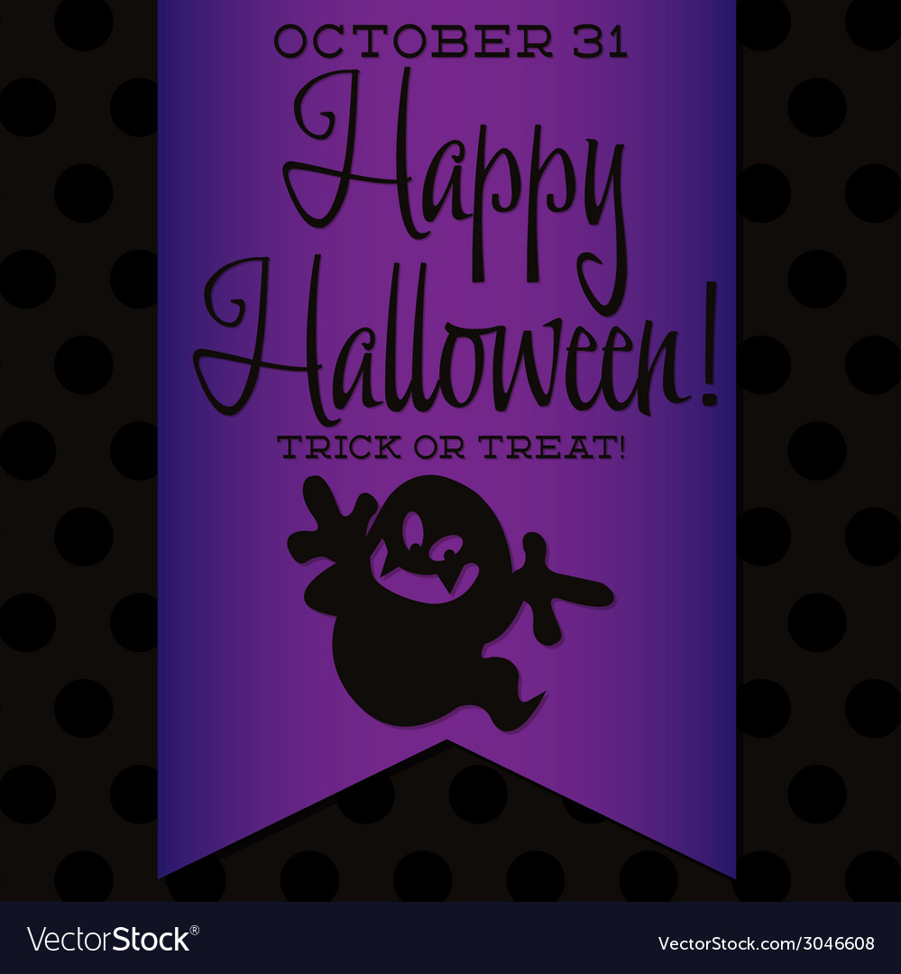 Ghost halloween sash card in format vector | Price: 1 Credit (USD $1)
