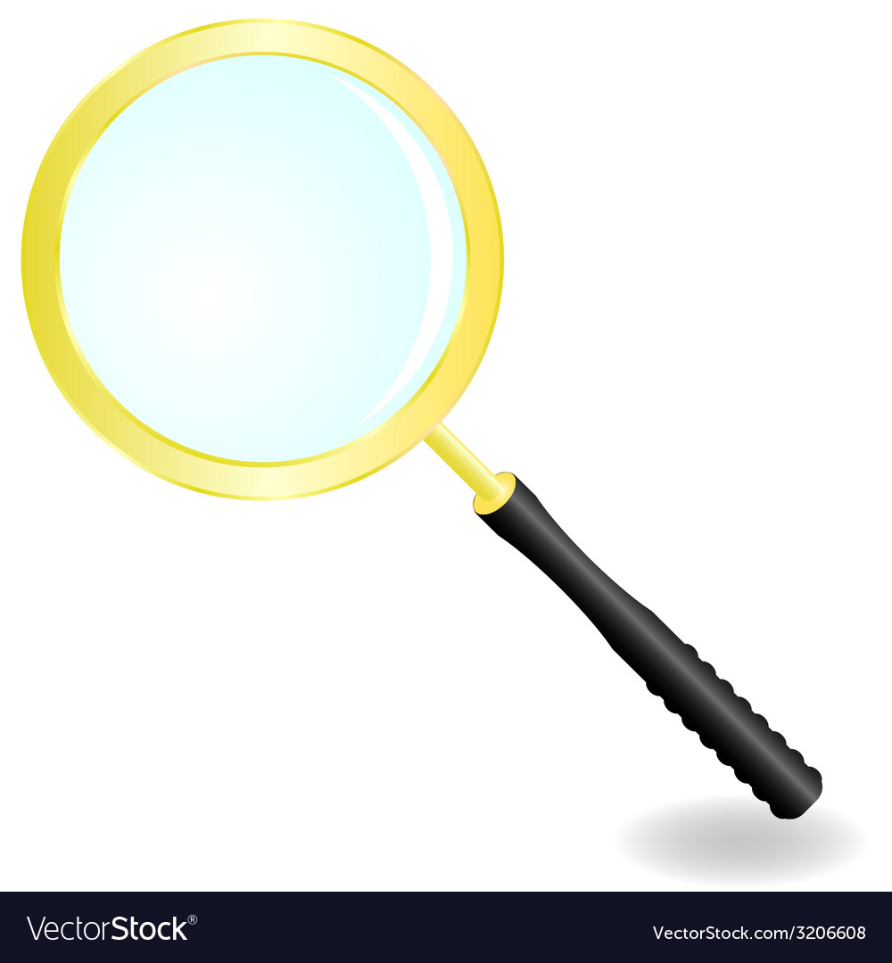Golden magnifier vector | Price: 1 Credit (USD $1)