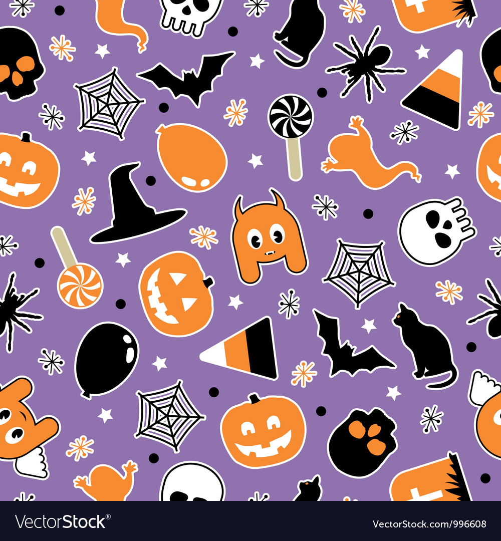 Halloween pattern vector | Price: 1 Credit (USD $1)