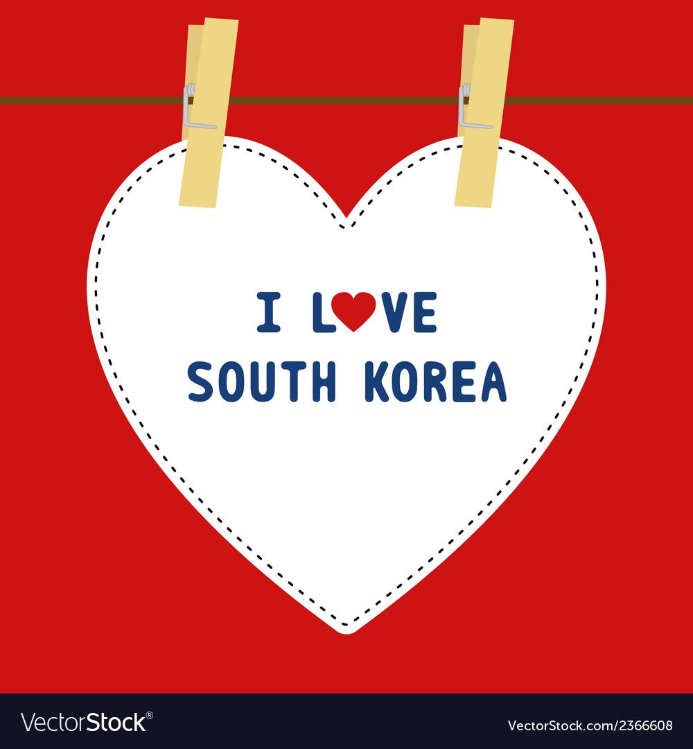 I love south korea5 vector | Price: 1 Credit (USD $1)