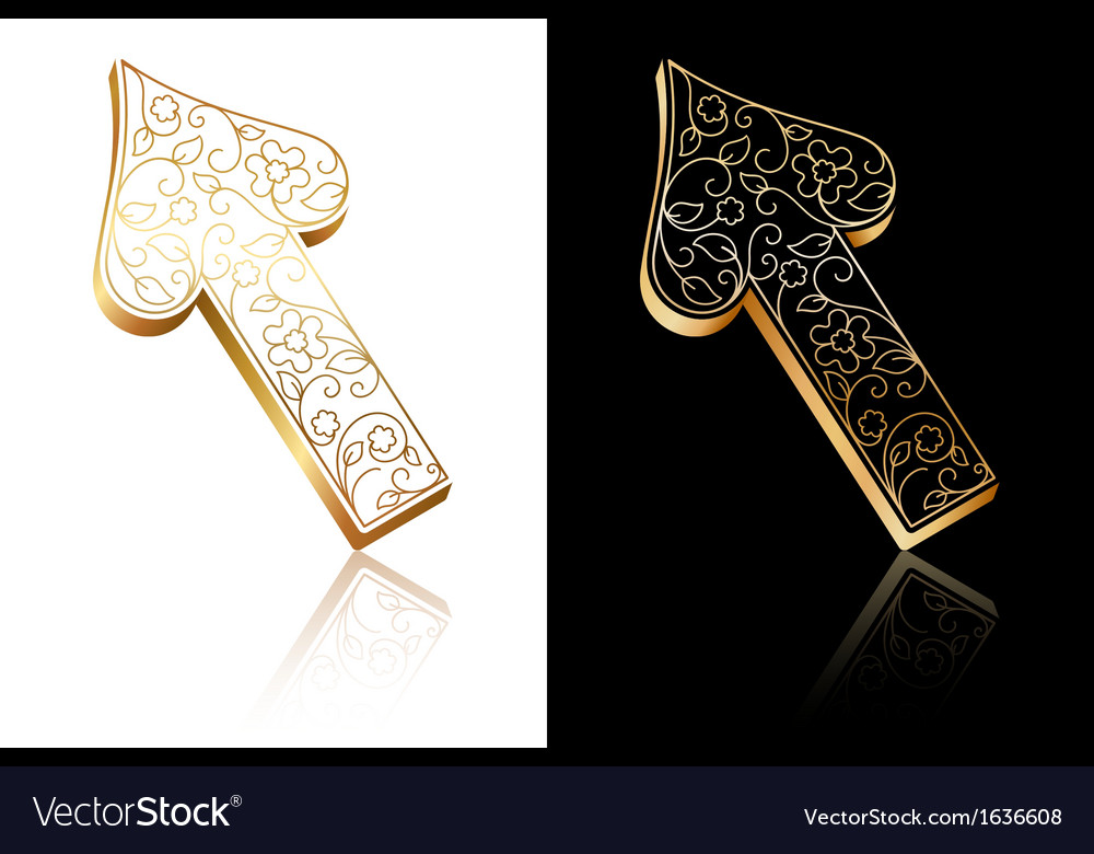 Ornate arrow vector | Price: 1 Credit (USD $1)