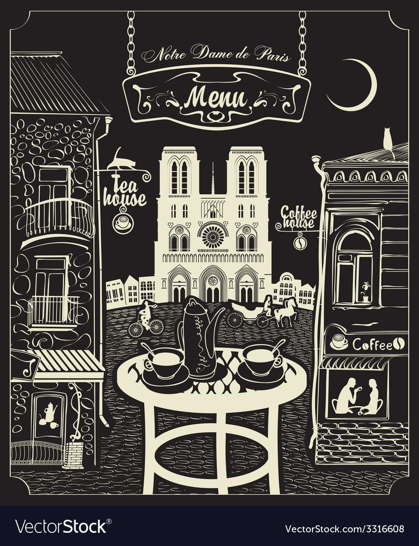 Paris cafe vector | Price: 3 Credit (USD $3)