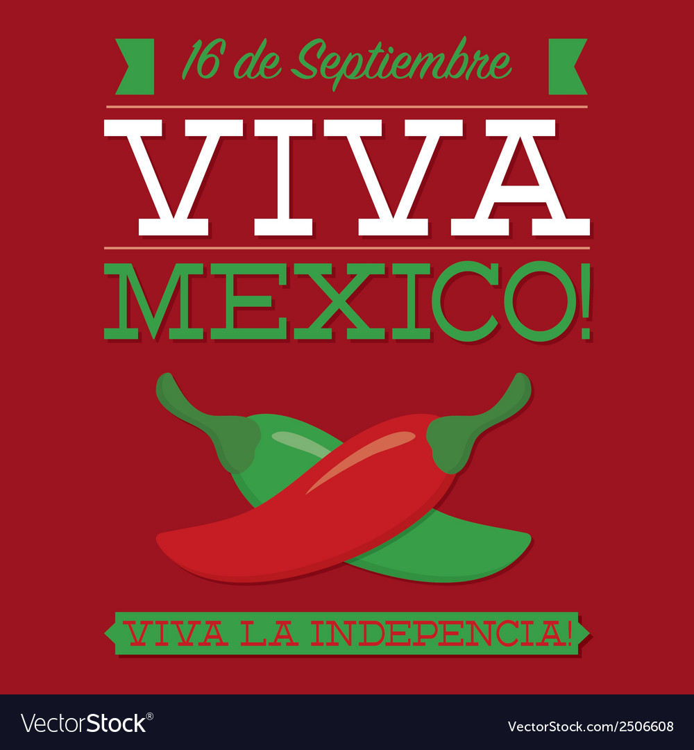 Retro style viva mexico card in format vector | Price: 1 Credit (USD $1)