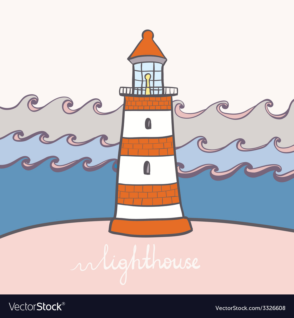 Shiplighthouse13 vector | Price: 1 Credit (USD $1)