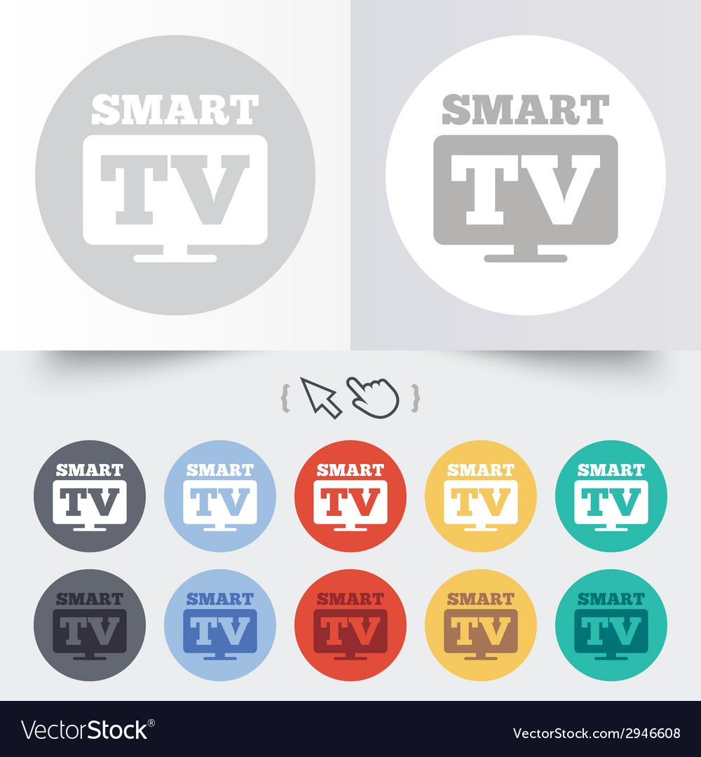 Widescreen smart tv sign icon television set vector   Price: 1 Credit (USD $1)