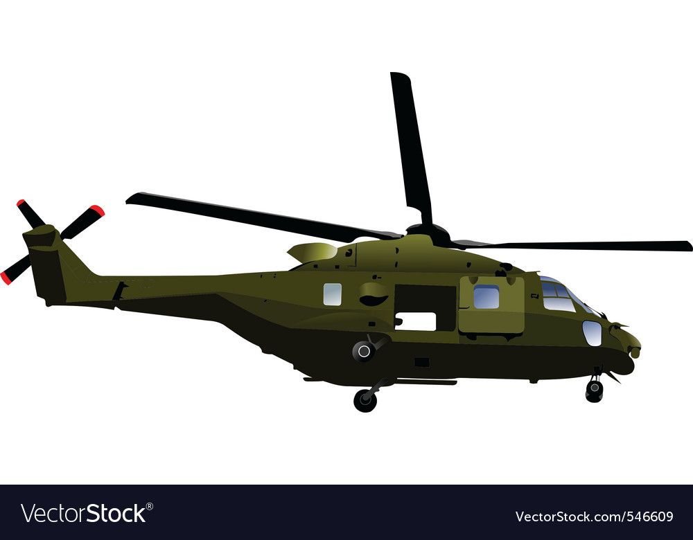 Army helicopter vector | Price: 1 Credit (USD $1)