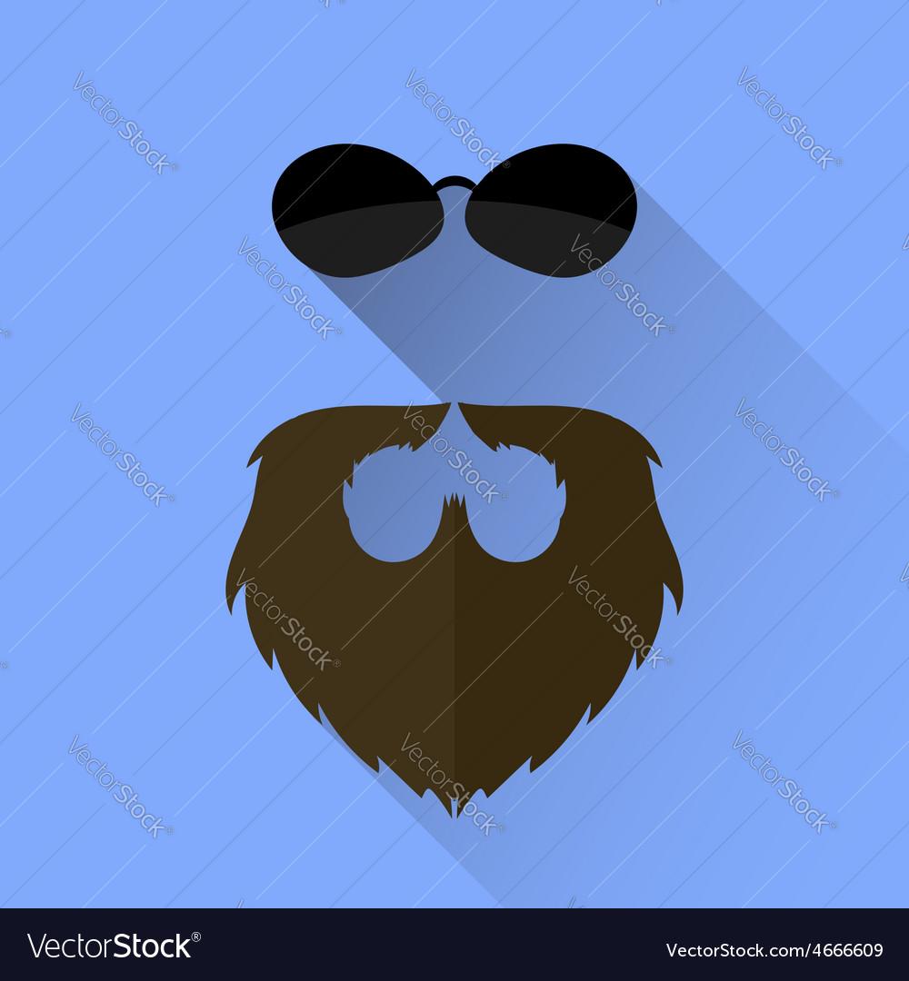 Beard and sunglasses icon vector | Price: 1 Credit (USD $1)