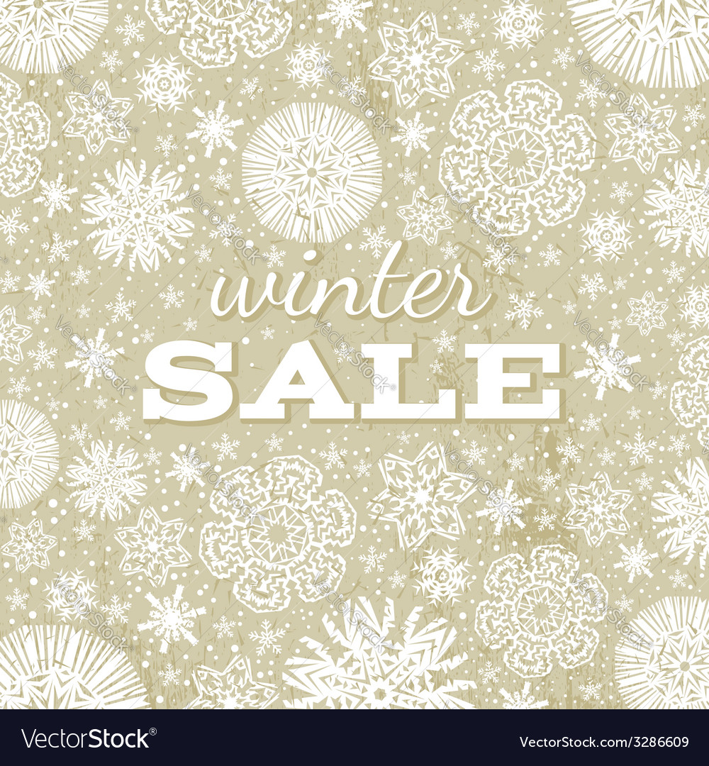 Beige christmas background with snowflakes vector | Price: 1 Credit (USD $1)
