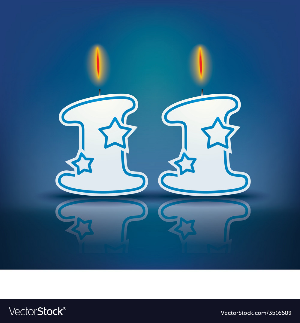 Birthday candle number 11 vector | Price: 1 Credit (USD $1)