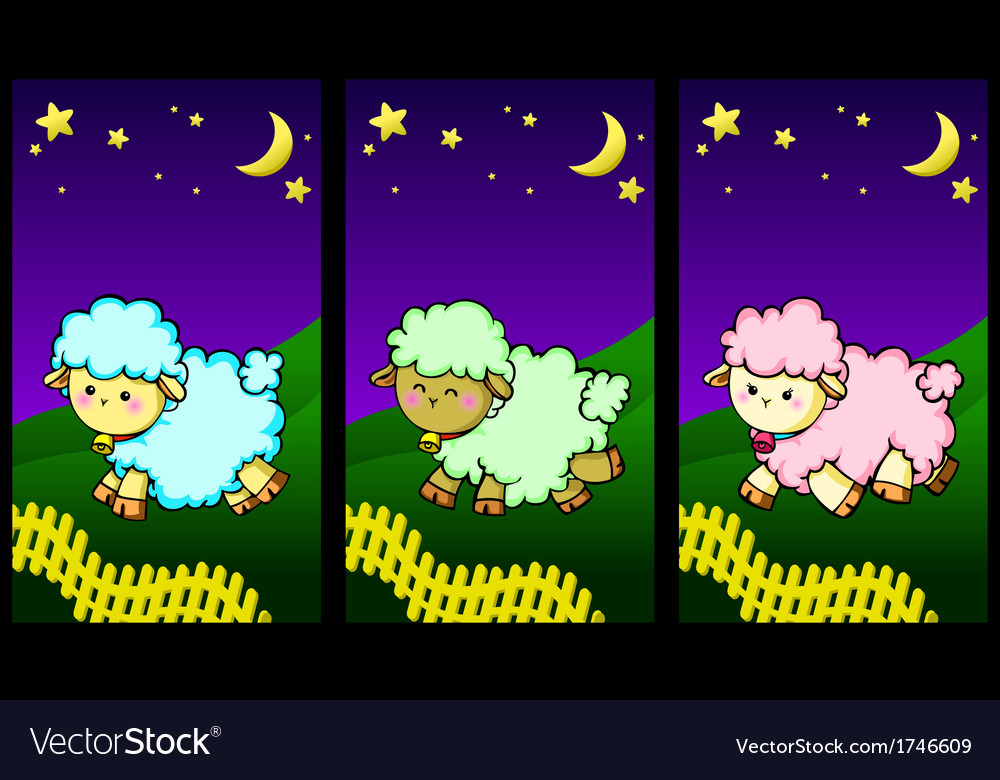 Cute little lambs vector | Price: 1 Credit (USD $1)