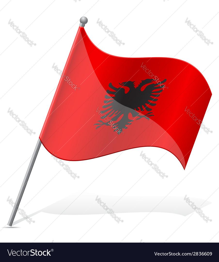 Flag of albania vector | Price: 1 Credit (USD $1)