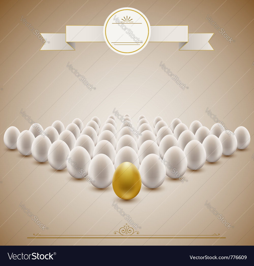 Golden egg concept background vector | Price: 1 Credit (USD $1)