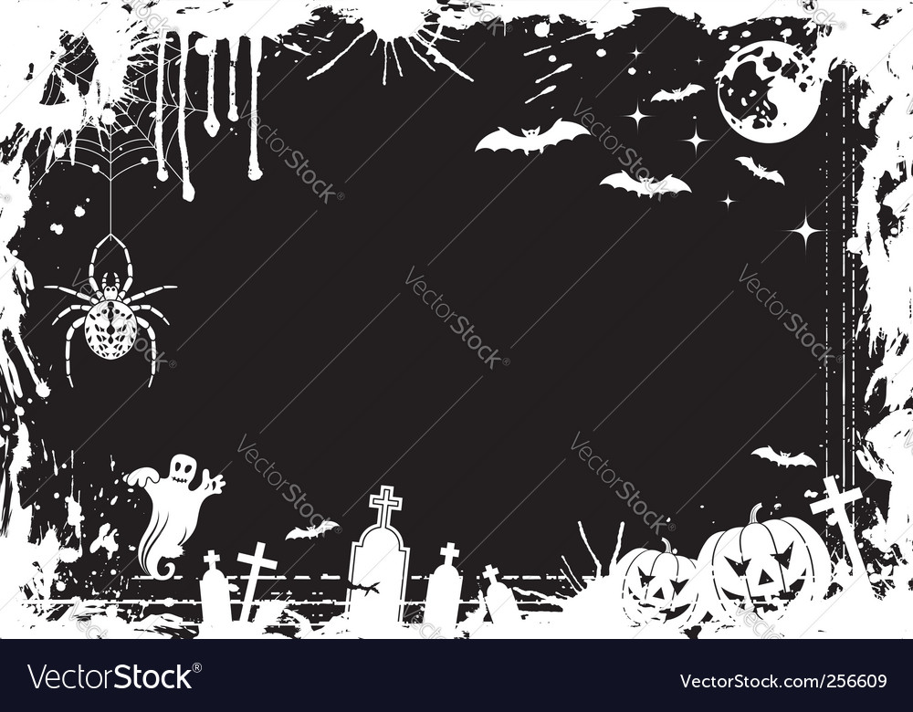 Grunge halloween frame vector | Price: 1 Credit (USD $1)