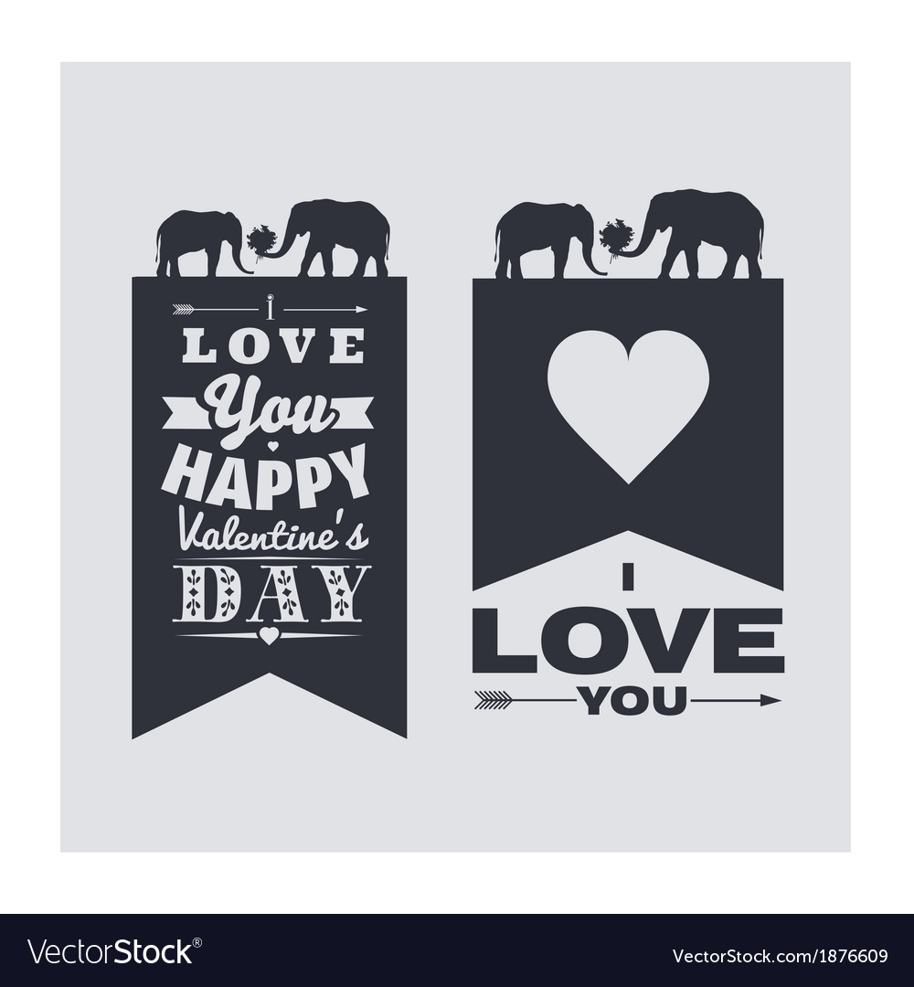 I love you and happy valentines day vector | Price: 1 Credit (USD $1)