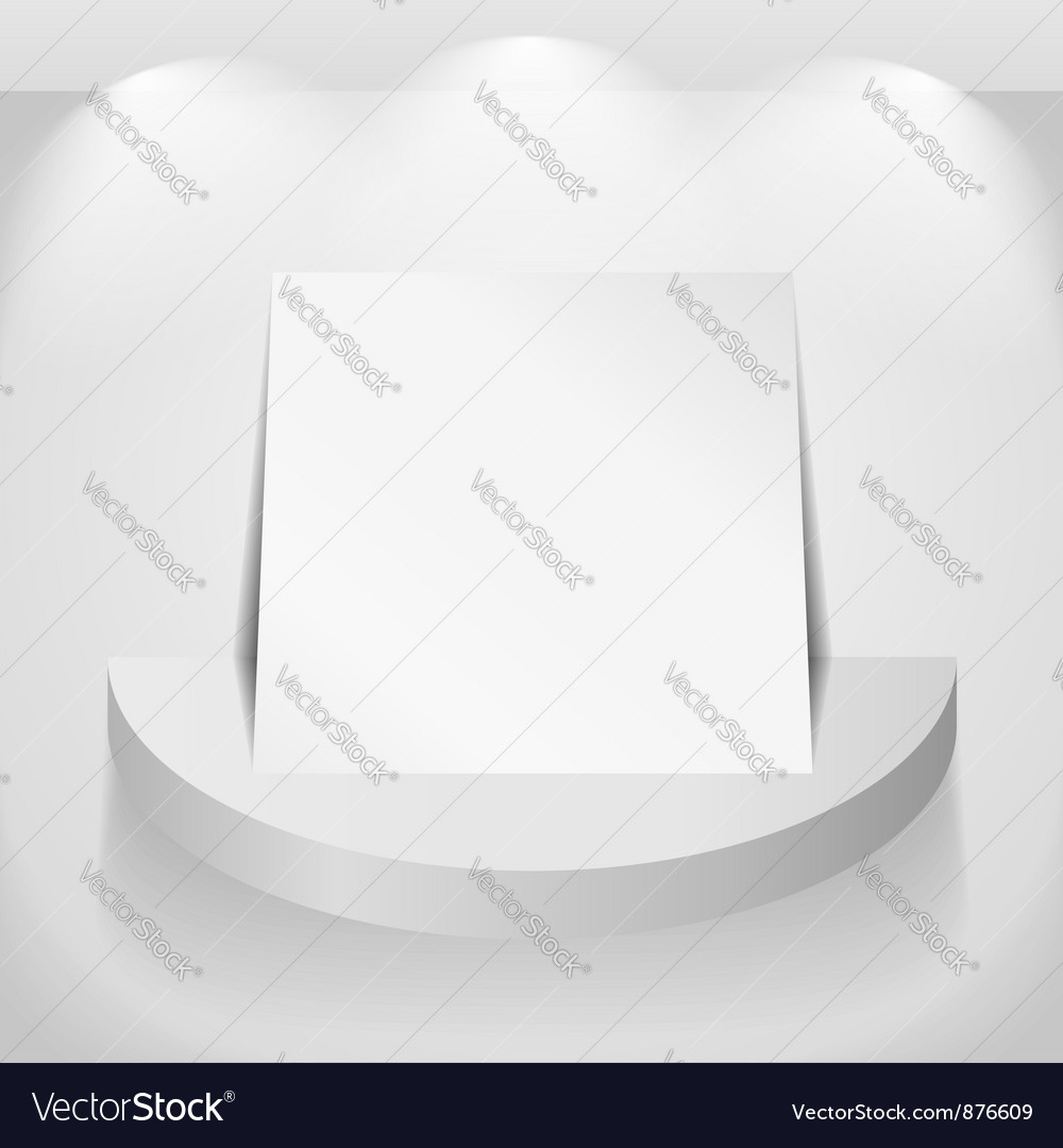 Paper on round shelf vector | Price: 1 Credit (USD $1)