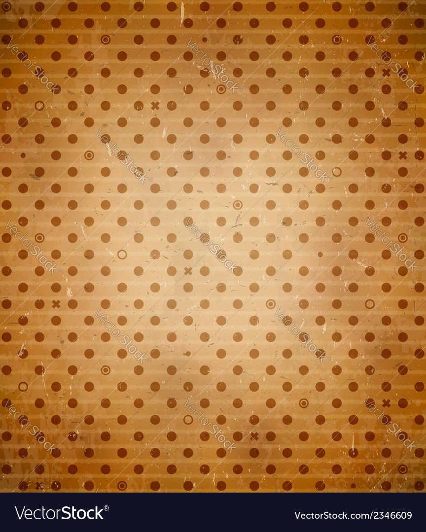 Scratched cardboard with polka dot pattern vector | Price: 1 Credit (USD $1)