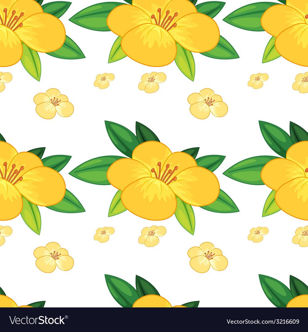 Seamless flower vector | Price: 1 Credit (USD $1)