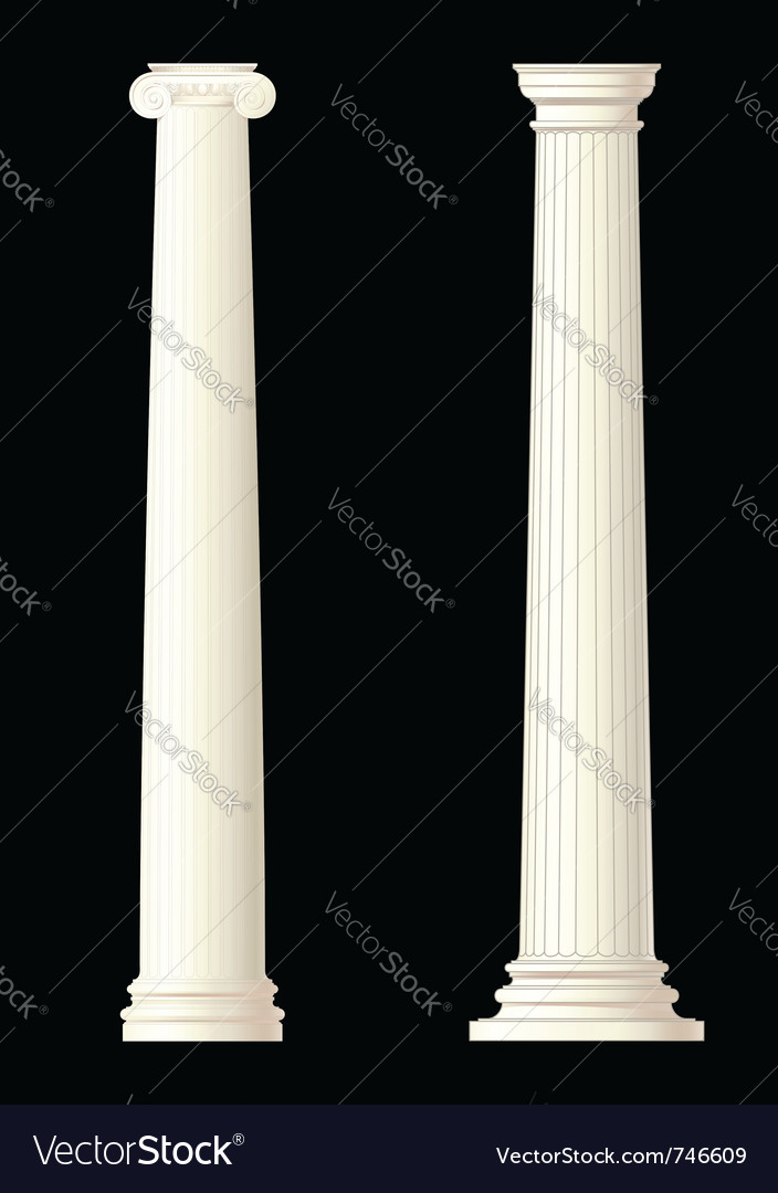 Set of 2 columns vector | Price: 1 Credit (USD $1)
