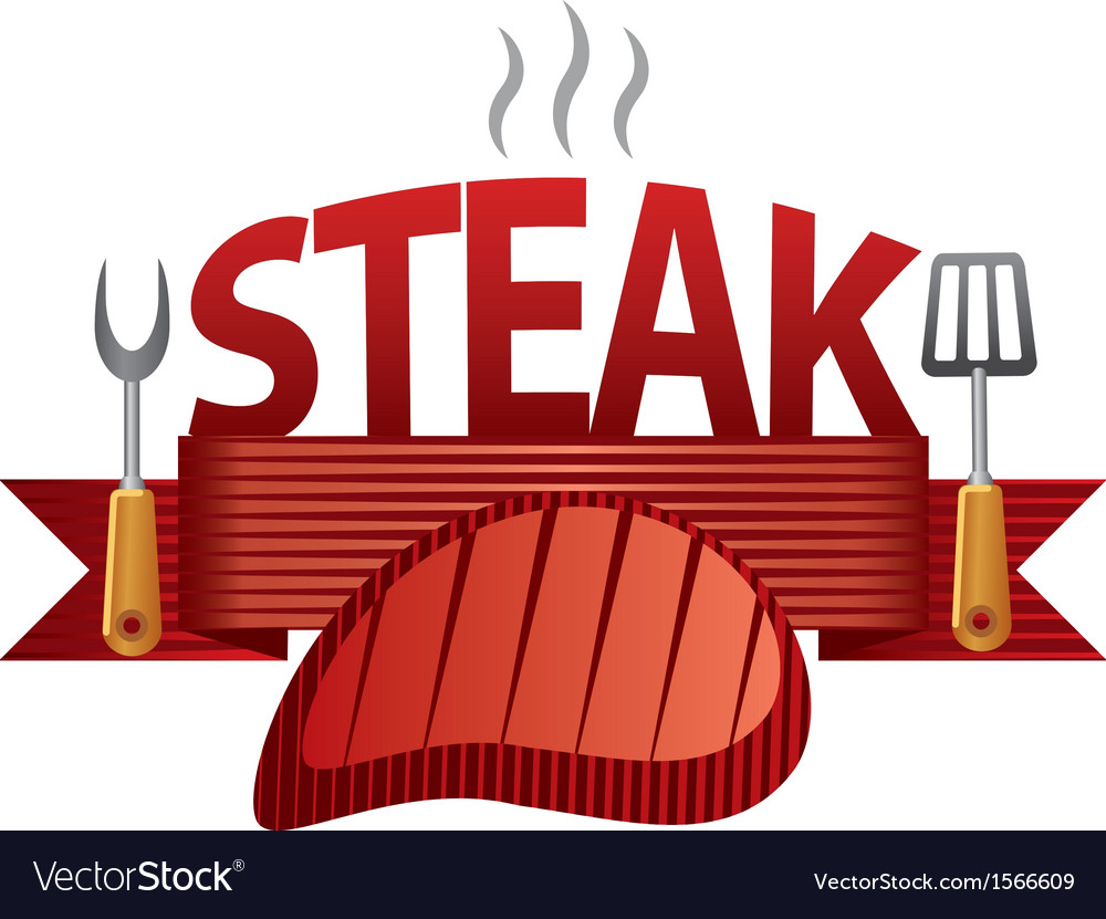Steak badge vector | Price: 1 Credit (USD $1)