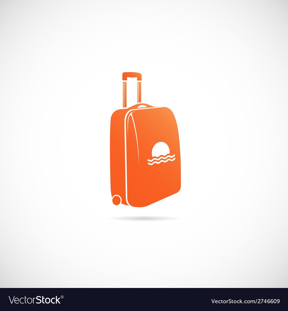 Travel suitcase symbol icon vector | Price: 1 Credit (USD $1)