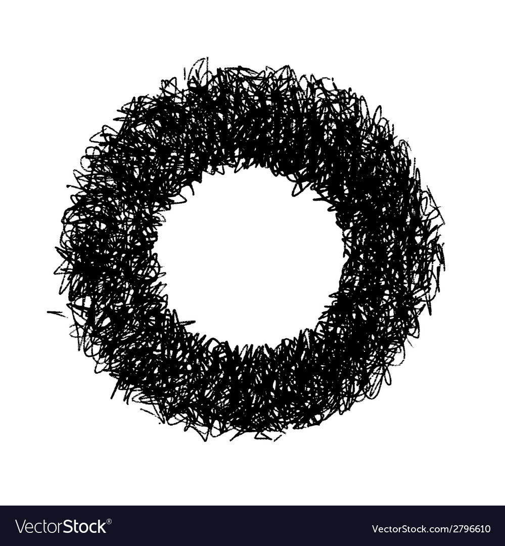Abstract doodle donut vector | Price: 1 Credit (USD $1)