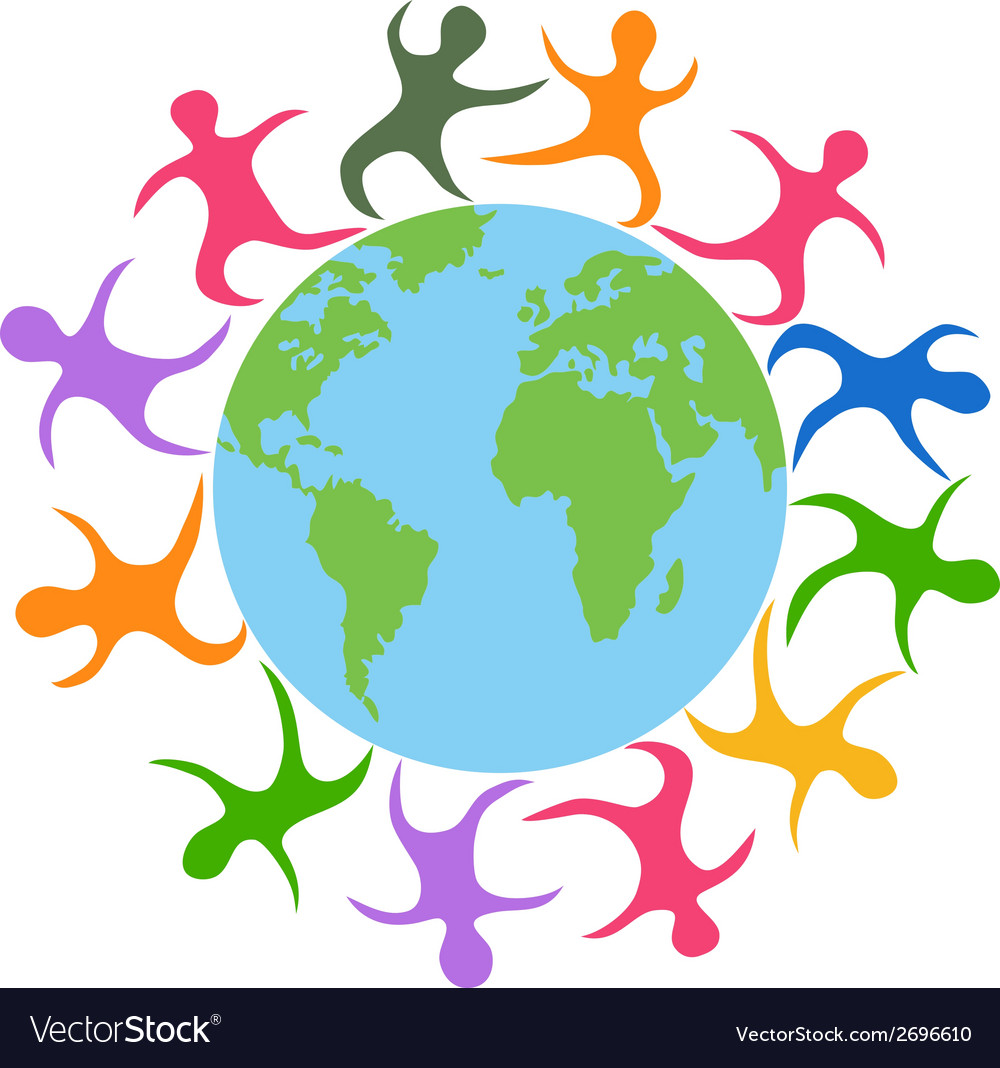 Abstract people around the world vector | Price: 1 Credit (USD $1)
