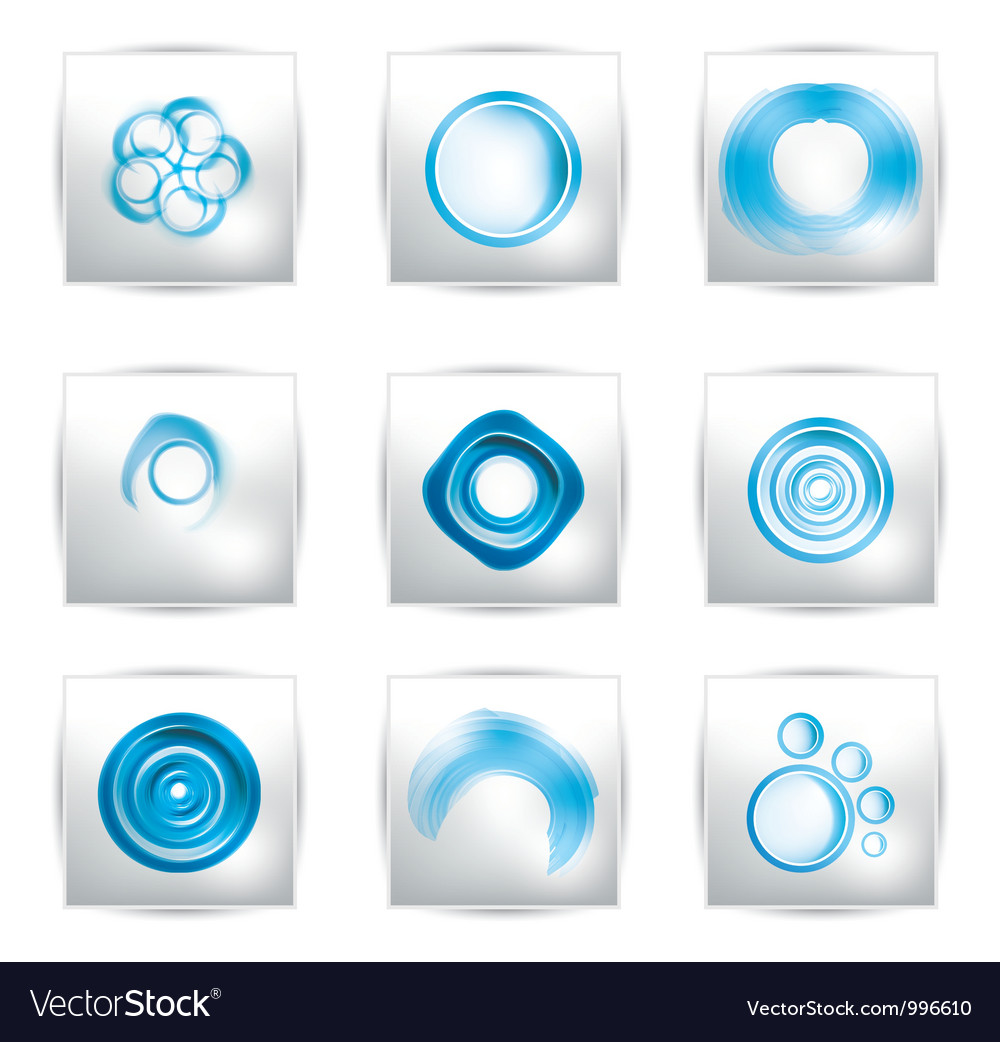 Abstract water and circle bubbles vector | Price: 1 Credit (USD $1)