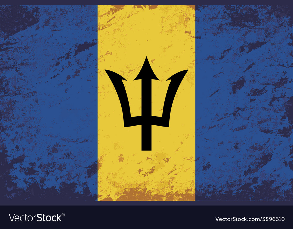 Barbados flag grunge background vector | Price: 1 Credit (USD $1)