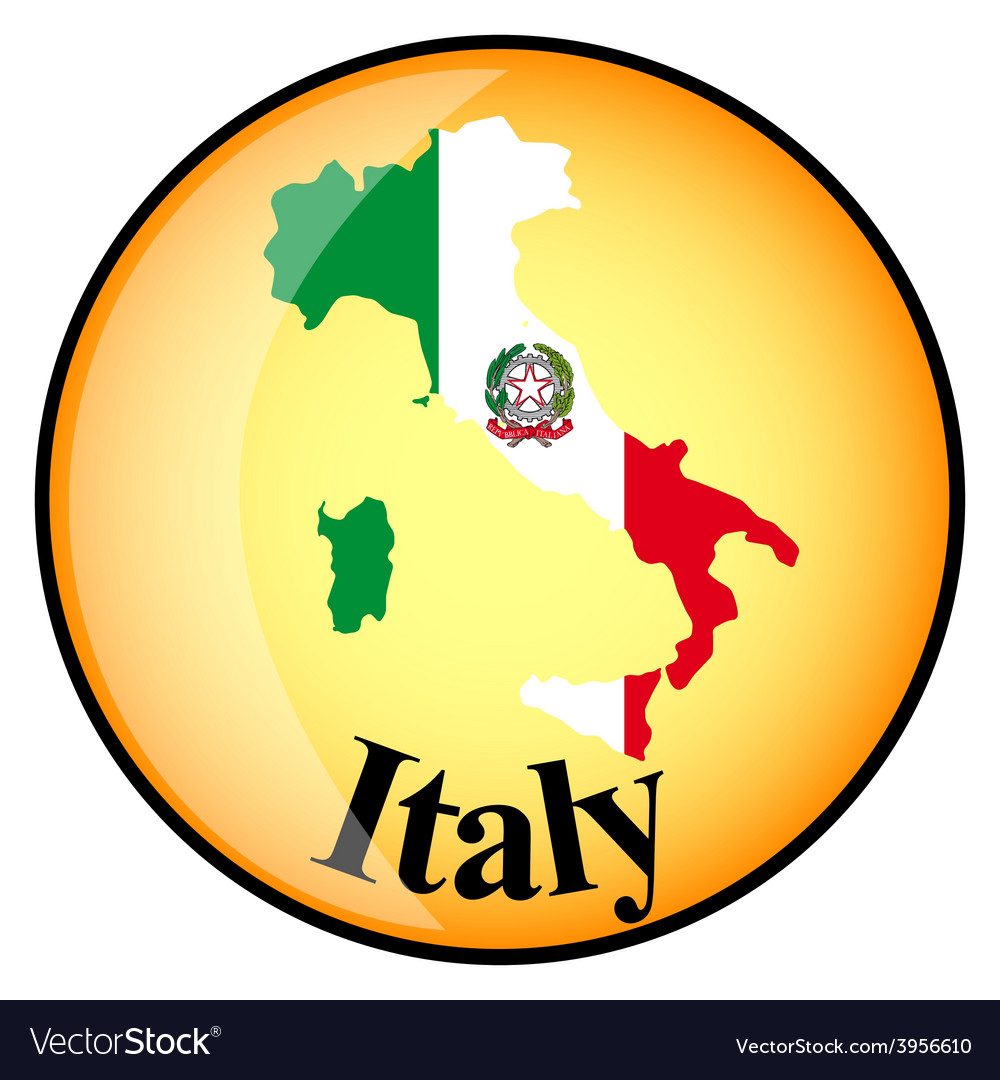 Button italy vector | Price: 1 Credit (USD $1)