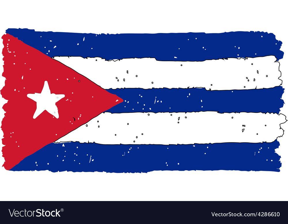 Flag of cuba handmade vector | Price: 1 Credit (USD $1)