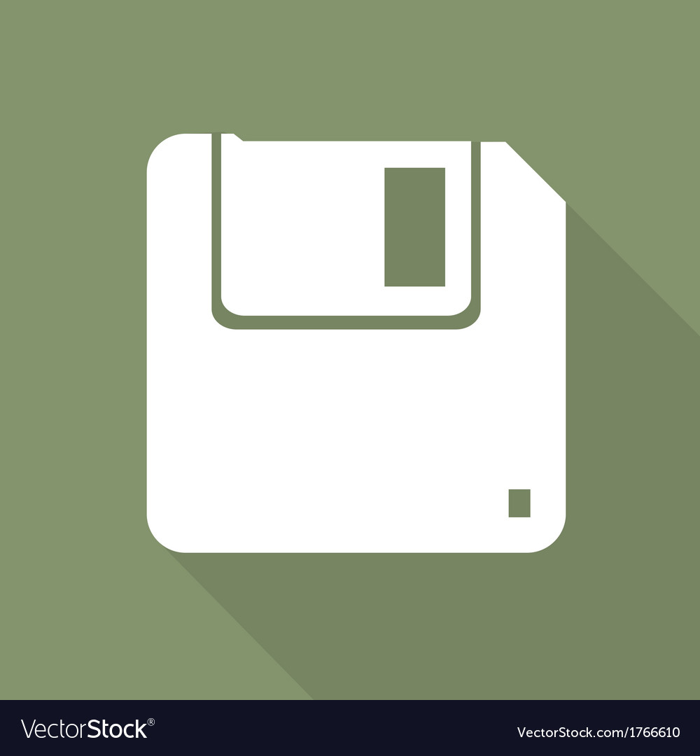 Floppy disk icon vector | Price: 1 Credit (USD $1)