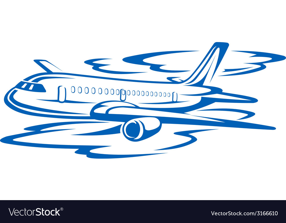Flying airplane vector   Price: 1 Credit (USD $1)
