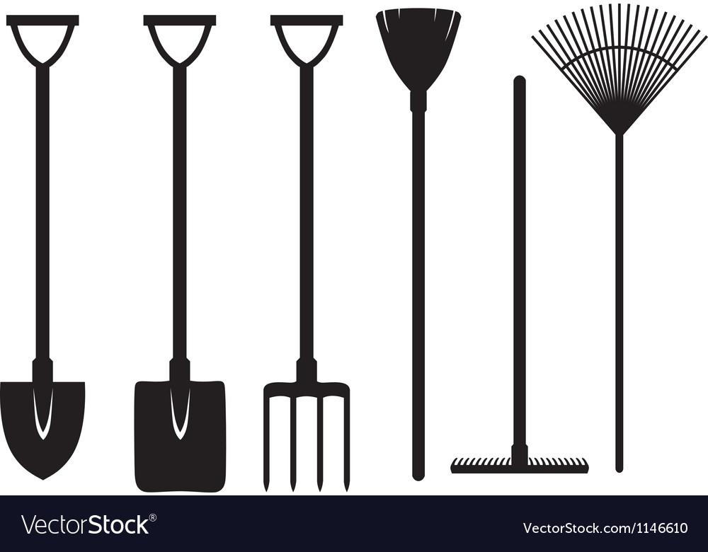 Gardening tools set vector